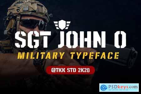 SGT. Jhon O - Stencil army font