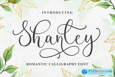 Shanley - Romantic Calligraphy Font