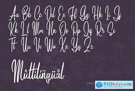 Yustin - Script Font