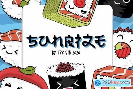 SUNRIZE - faux hiragana font
