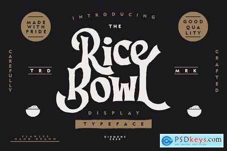 Ricebowl Typeface