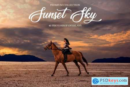 Sunset Sky Photoshop Overlays 4740631