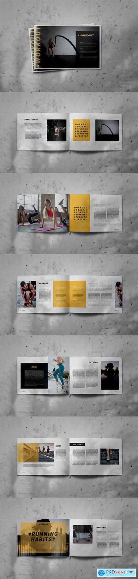 WORKOUT - Indesign Brochure Lookbook Template