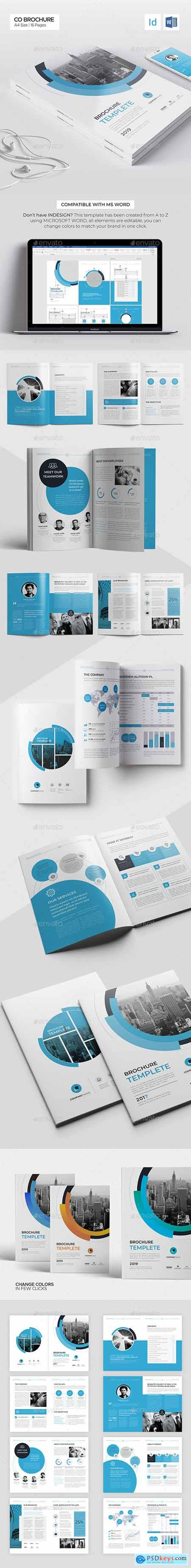 Company Brochure, Word Template, 16 Pages 25283909