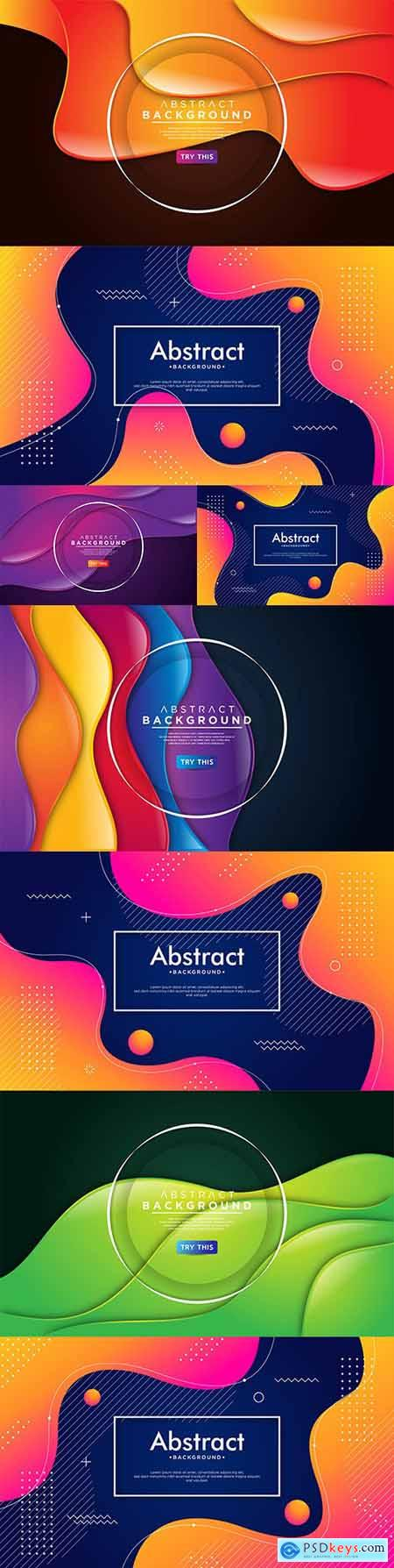 Abstract gradient wave background with colorful shapes 2