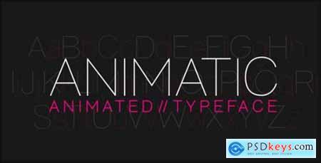 Animatic Animated Typeface 7888603