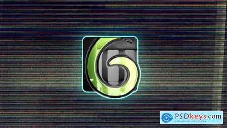 Split Glitchy Logo Reveal 24457251
