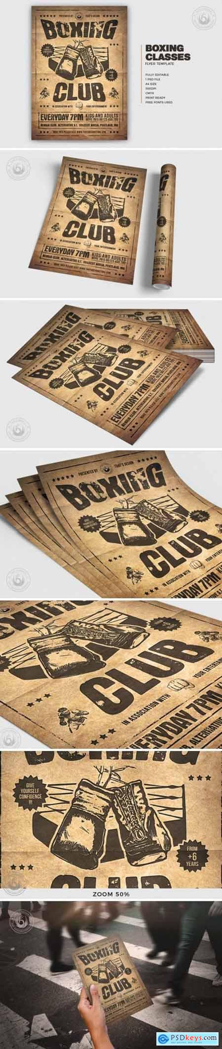 Boxing Classes Flyer Template V2 4327438