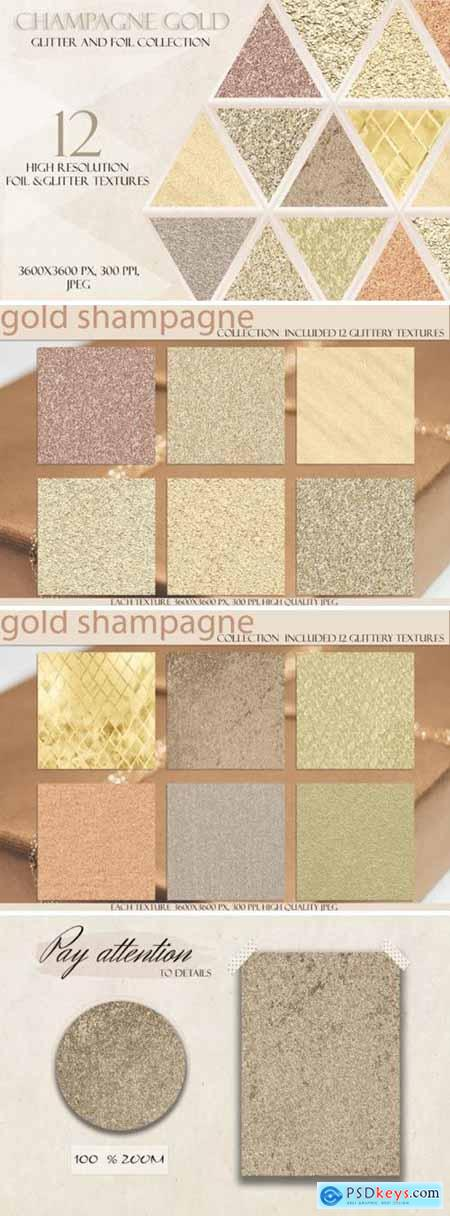 Champagne Gold Glitter Digital Paper 4327497