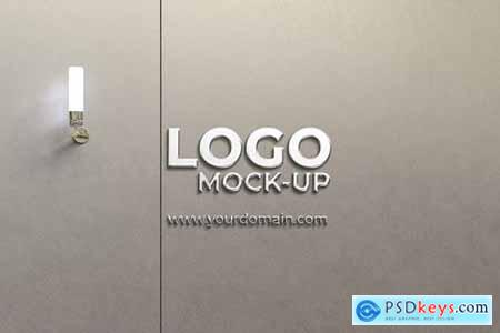 Wall Logo Mockup