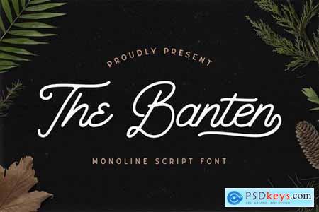 The Banten - Monoline Script Font 5040767