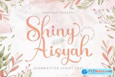 Shiny Aisyah - Handwritten Font 5040924
