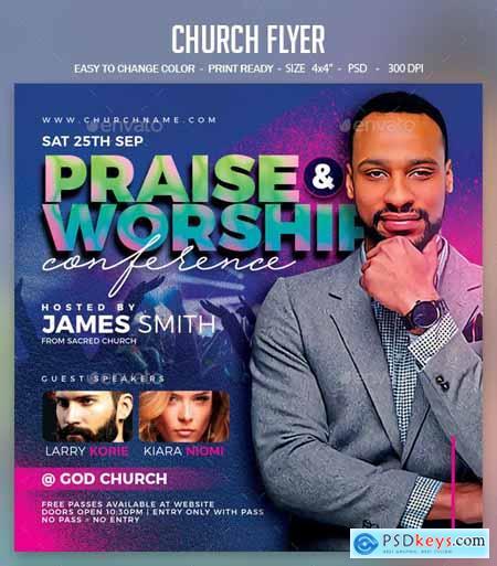 Church Flyer 24577480