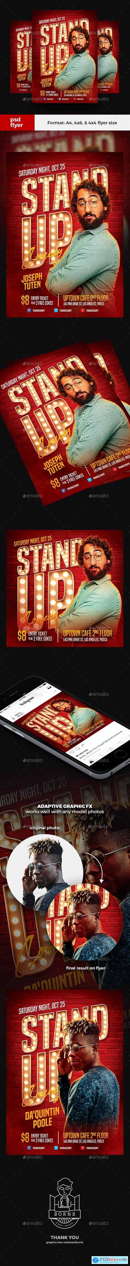 Stand Up Comedy Flyer 24286647