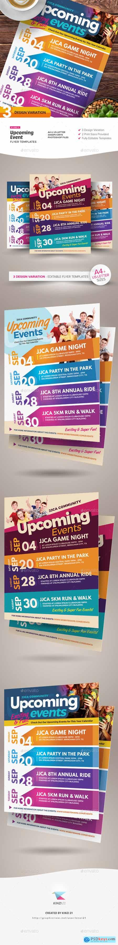Upcoming Events Flyer Templates 25245277