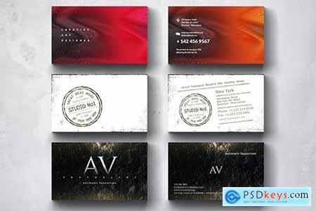 Creative Multipurpose Business Card Design Set 7