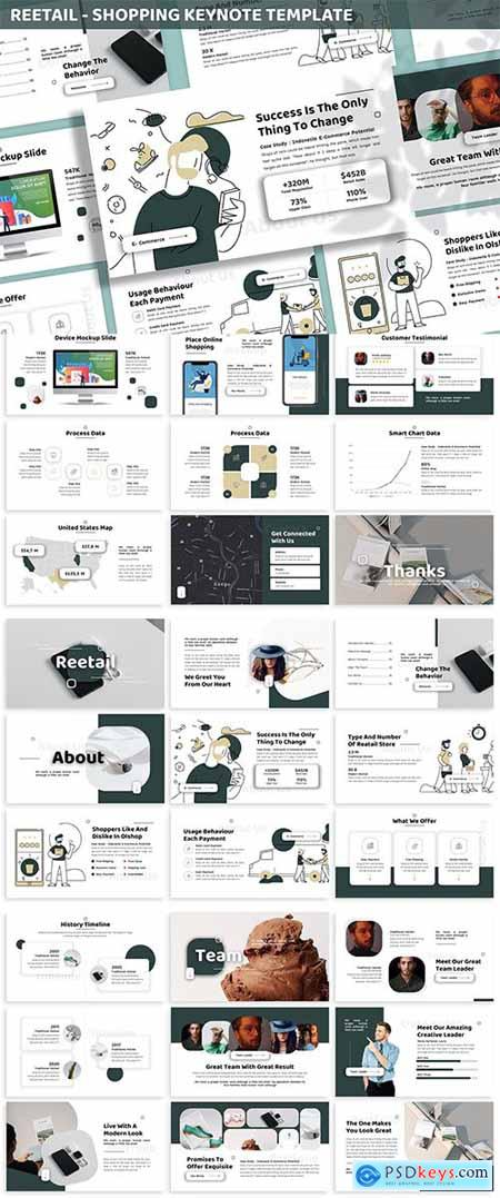 Reetail - Shopping Keynote Template