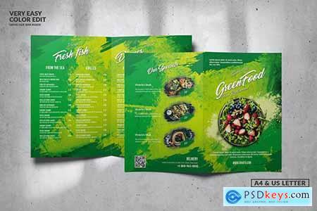 Green Food Menu Design A4 & US Letter