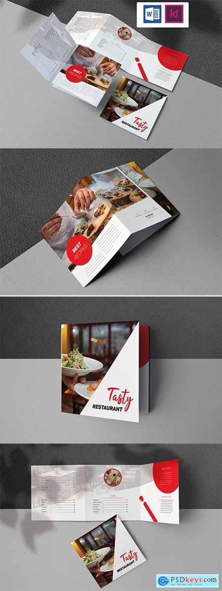Restaurant Brochure Indesign