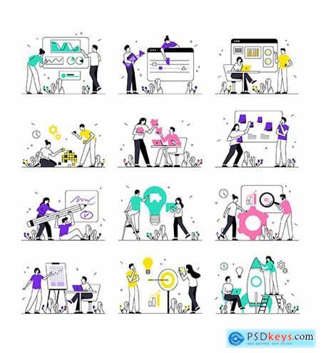 Startup & Strategy Illustration Kit