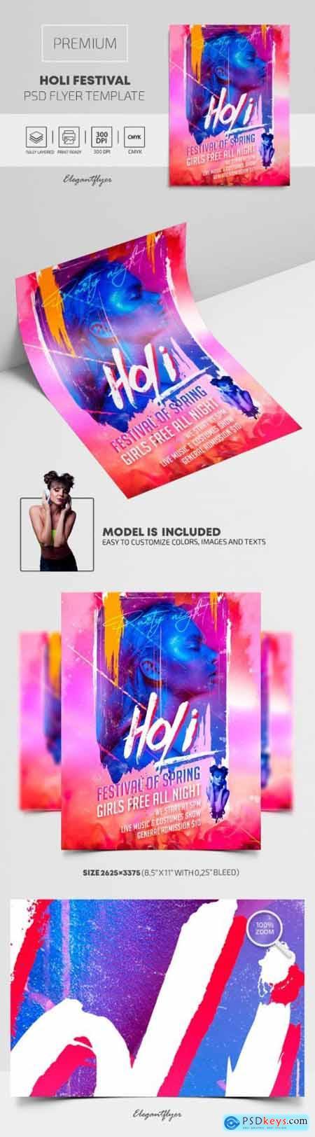 Holi Festival – Premium PSD Flyer Template