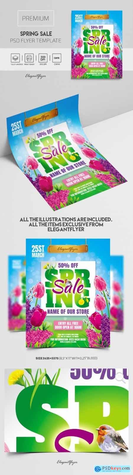 Spring Sale – Premium PSD Flyer Template