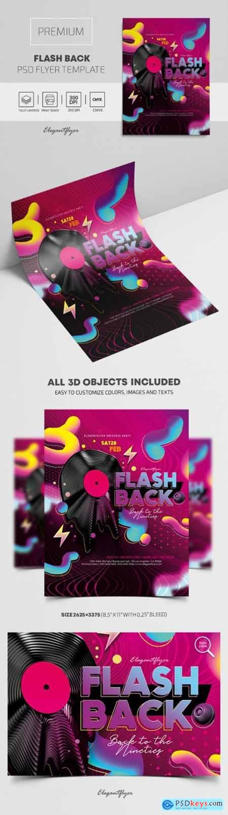 Flash Back – Premium PSD Flyer Template