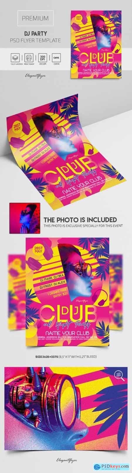 DJ Party – Premium PSD Flyer Template