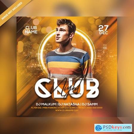 Club night party flyer Premium Psd517