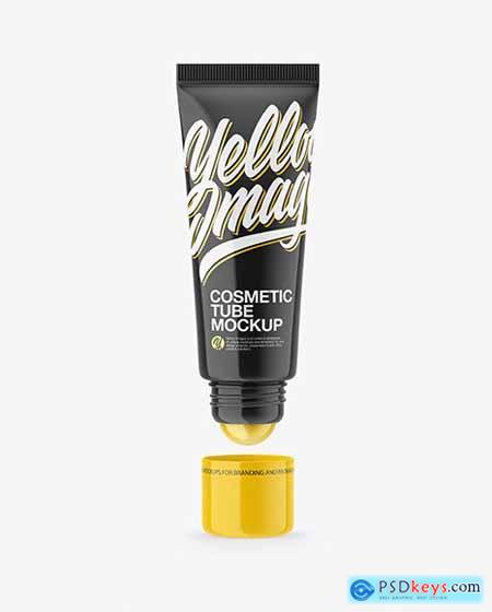 Glossy Cosmetic Tube With Ball Mockup 61713