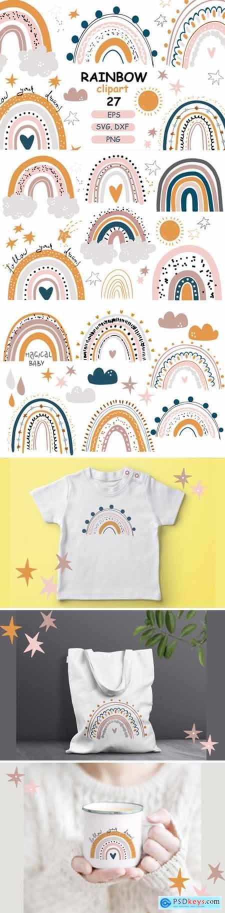 Rainbow Baby Pastel Clipart 4328330