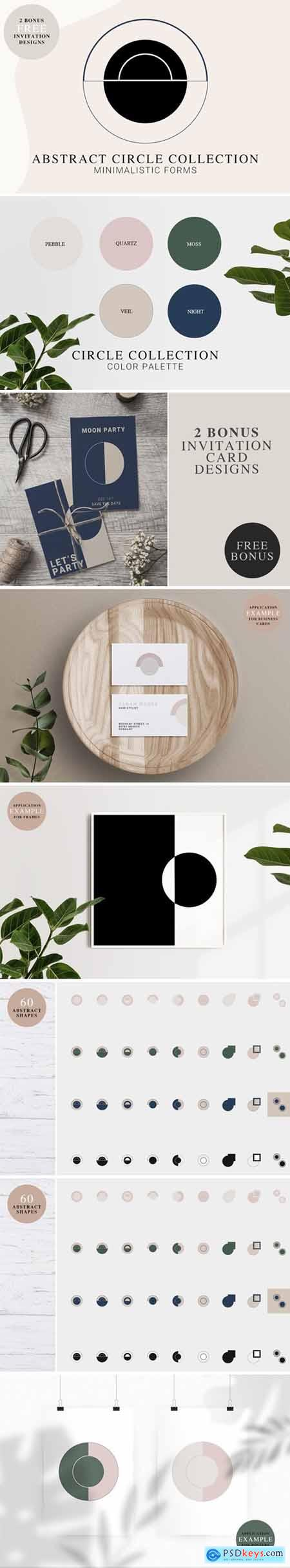Abstract CIRCLE Shapes Kit 4964129