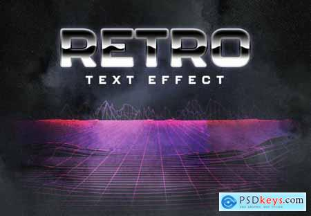 80S Retro Text Effect Layout 358393191