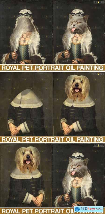 Royal Pet Portrait Templates Vol.4 4406008