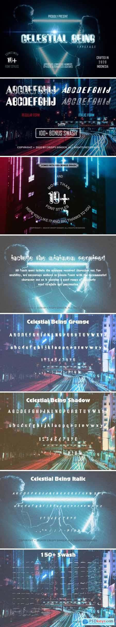 Celestial Being Font