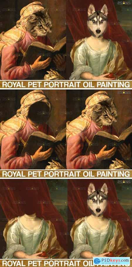 Royal Pet Portrait Templates Vol.6 4406021