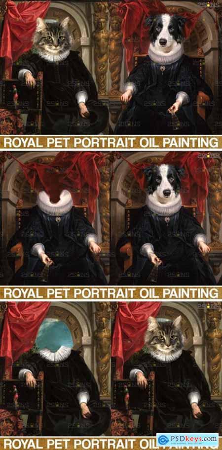 Royal Pet Portrait Templates Vol.7 4406029