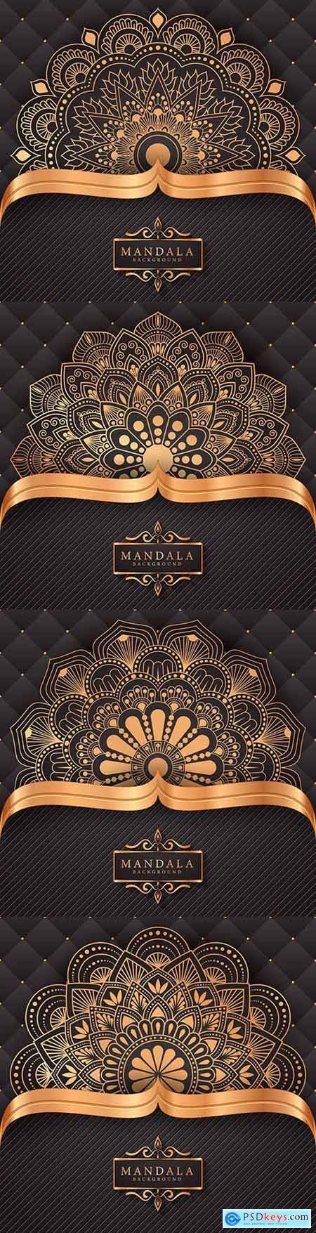 Mandala luxury gold decorative background 2
