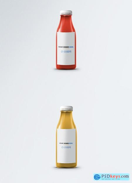glass bottle packaging mockup