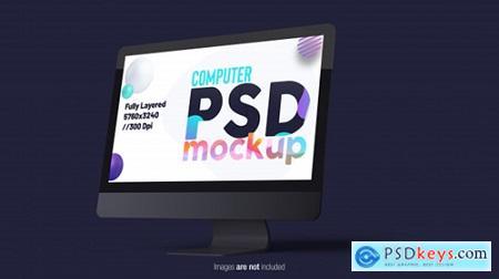 Desktop computer monitor Premium Psd
