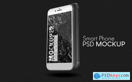 White smartphone psd mockup Premium Psd