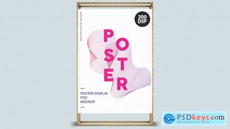 Vertical poster with wood frame Premium Psd