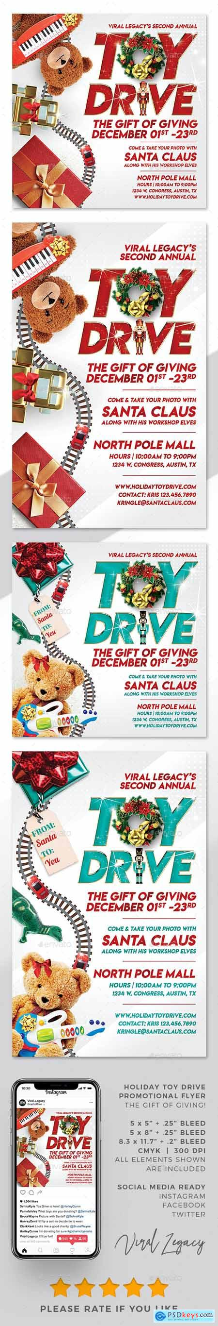 Toys for Tots Toy Drive Flyer V07 Template 24848815