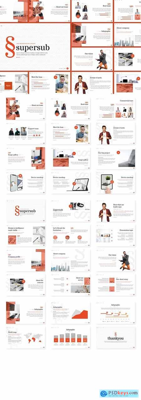 Supersub Powerpoint, Keynote and Google Slides Templates