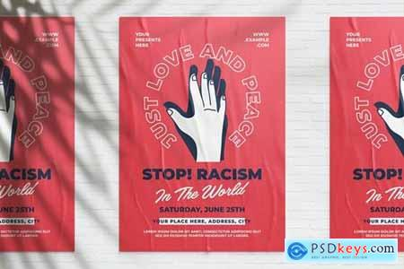 Stop Racism Campaign Flyer