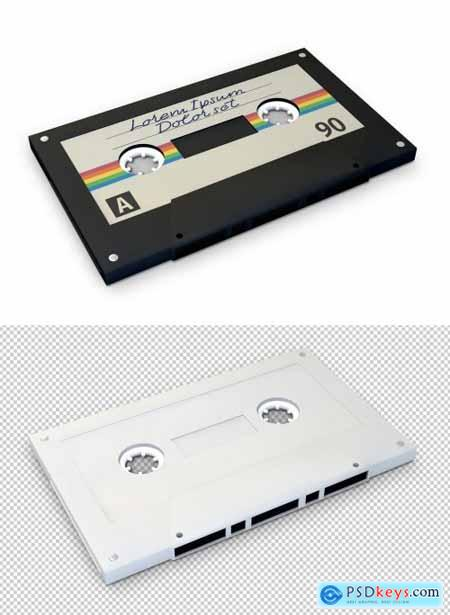 Cassette Tape Mockup on Transparent Background 359536646