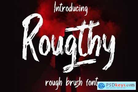 Rougthy Brush Font