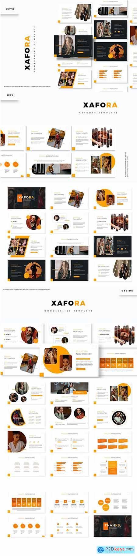 Xafora Powerpoint, Keynote and Google Slide Template