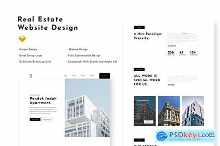 Real Estate - Website Design Template