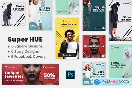 Super Hues - Social Media Kit & Facebook Covers